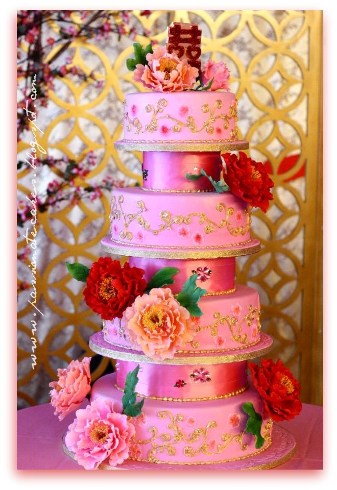 Passionate Cakes 55th Wedding Anniversary Cake With Sugar Peonies