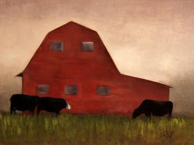 """red barn"" 9x12"