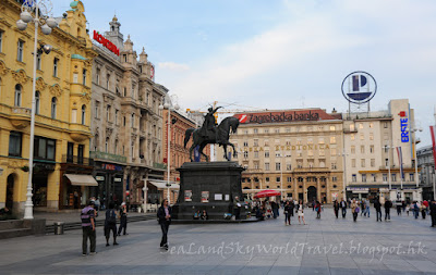 薩格勒布, Zagreb, 捷拉斯加廣場,Trg bana Josipa Jelacica