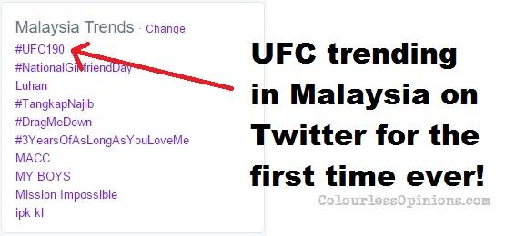 ufc 190 malaysia twitter trending