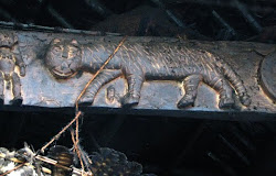 Tiger in Naga sculpure
