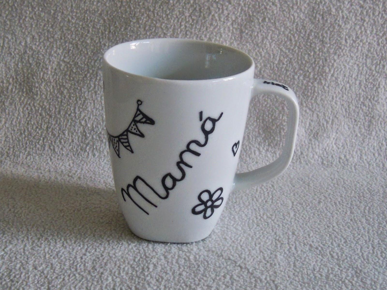 taza pintada a mano