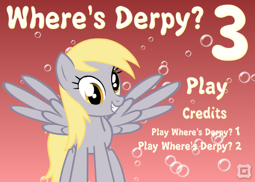 Title screen for Where's Derpy? 3.