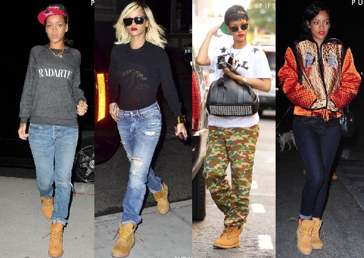 Rihanna também está amando a bota.