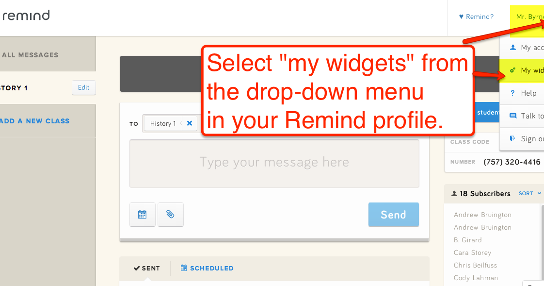 How to Embed Your Remind (101) Text Messages Into Your Blogger Blog