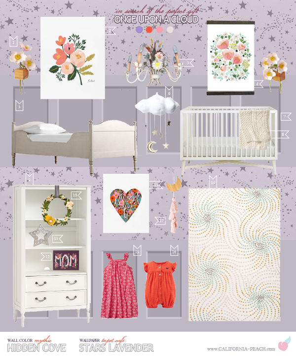Once Upon a Cloud Inspired Shared Space Style Board