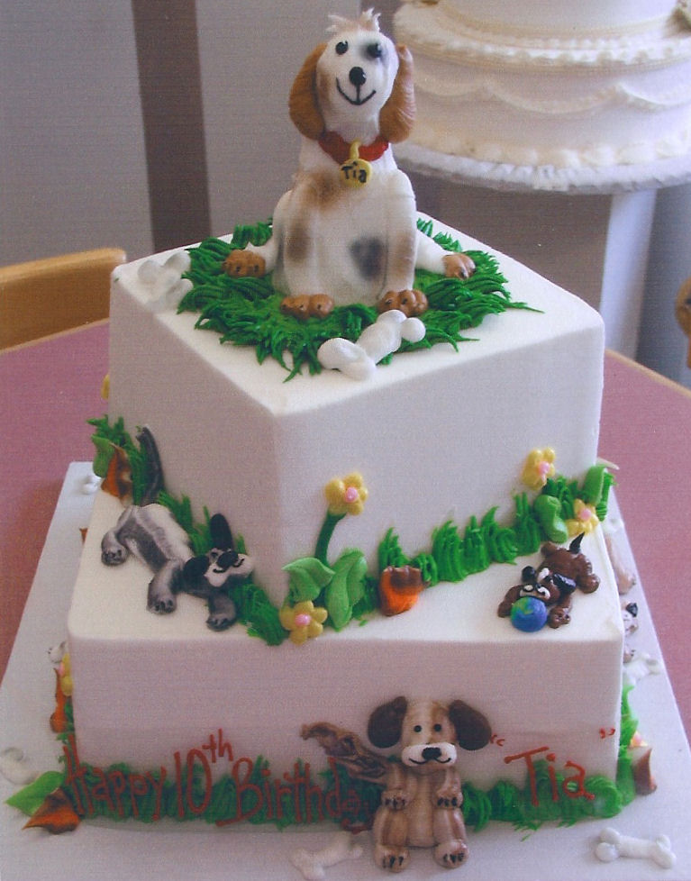 Pictures of Dog Cakes http://pawprintcitytimes.blogspot.com/2011/06/dog-cakes.html