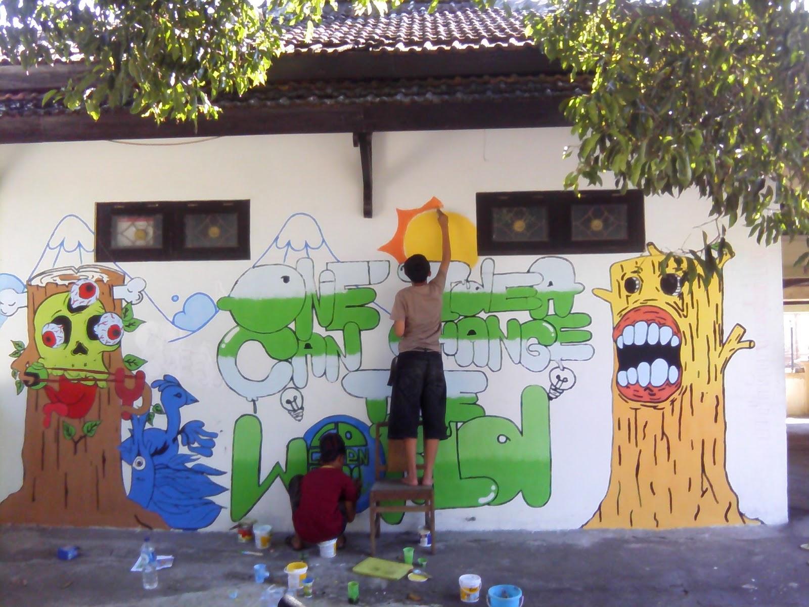 Sabavoscho go green smkn 1 bantul for Mural go green