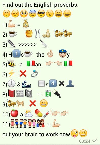 Find out the English Proverbs Whatsapp Puzzle Quiz