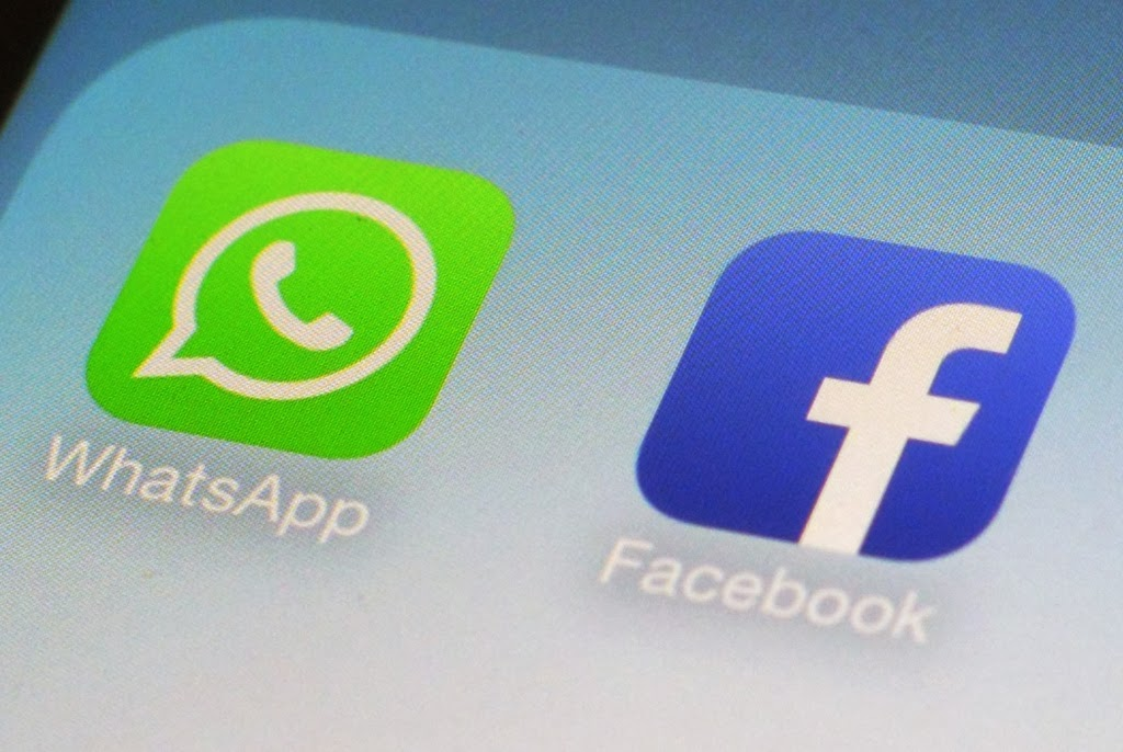 Whatsapp and Facebook icons