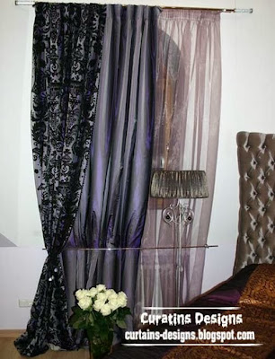 embossed curtain black fabric for bedroom Embossed curtain designs and draperies for bedroom, Luxury embossedcurtains