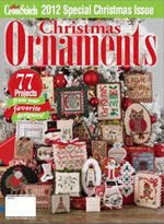 FIND BLUE RIBBON DESIGNS IN THE JUST CROSSSTITCH 2012 ANNUAL CHRISTMAS ORNAMENT ISSUE