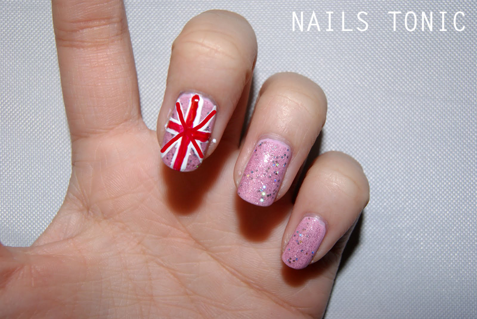 Nails tonic june 2011 i remembered a few posts back i did a union jack nail art over here now i did it with the chinaglaze something sweet and opis teenage dream prinsesfo Image collections
