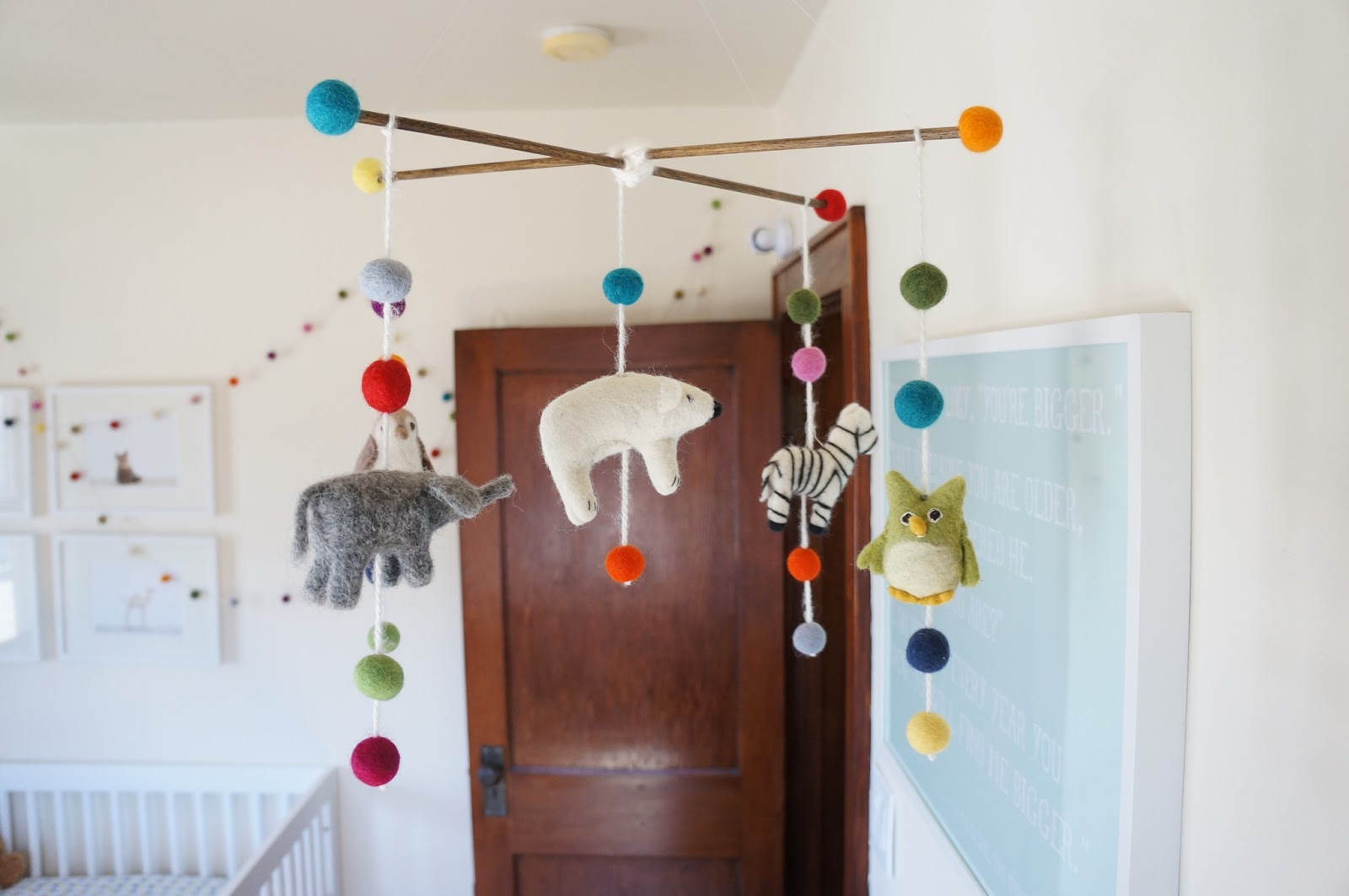DIY Felt Animal and Felt Ball Mobile