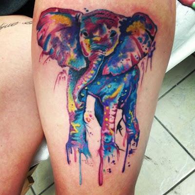El mejor tatuaje de elefantes