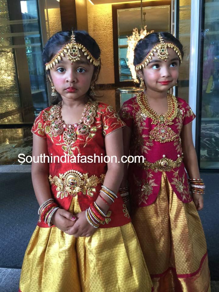 Ariana And Viviana In Designer Lehengas South India Fashion