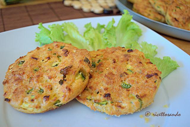 ricetta vegetariana di Medaglioni di zucchine e parmigiano
