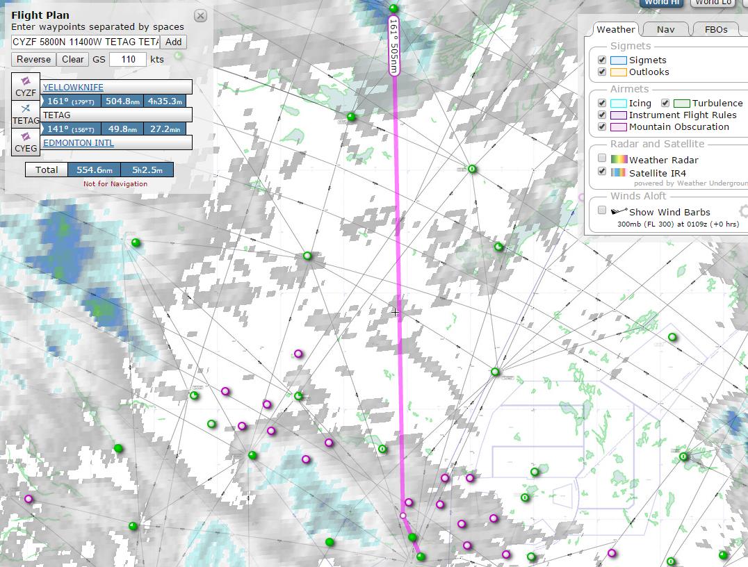 Skyvector flight vfr planning - Figure 1 The Skyvector Satellite Ir4 Overlay