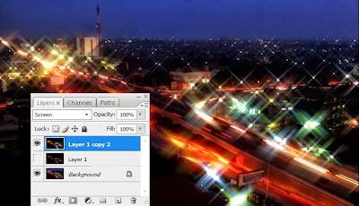 Membuat Efek Cahaya Dengan Photoshop