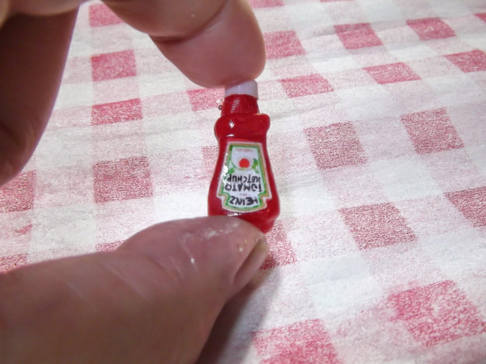 Miniature Heinz ketchup bottle