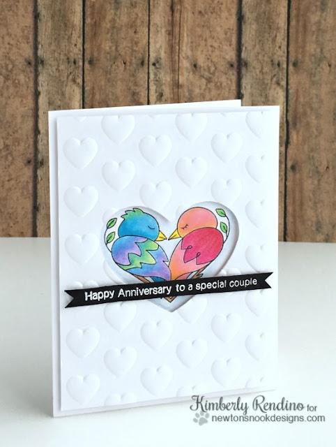 Anniversary card | handmade card | kimpletekreativity.blogspot.com | newton's nook | birds