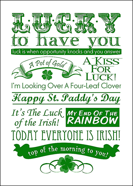 photograph relating to St Patricks Day Printable referred to as Rantin Ravin: ST. PATRICKS Working day PRINTABLES!!!
