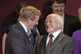 Taoiseach Enda Kenney (left) and President Michael D. Higgins.