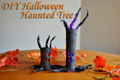 DIY easy Halloween Haunted Tree decoration