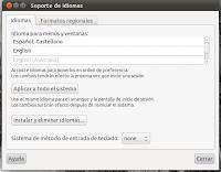 Soporte de idiomas Ubuntu