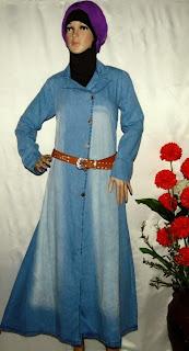 Pusat grosir baju muslim bahan  jeans