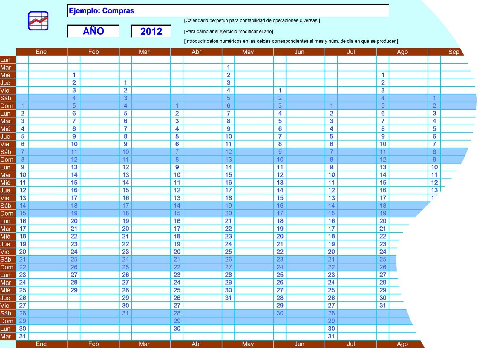 Calendario perpetuo Excel