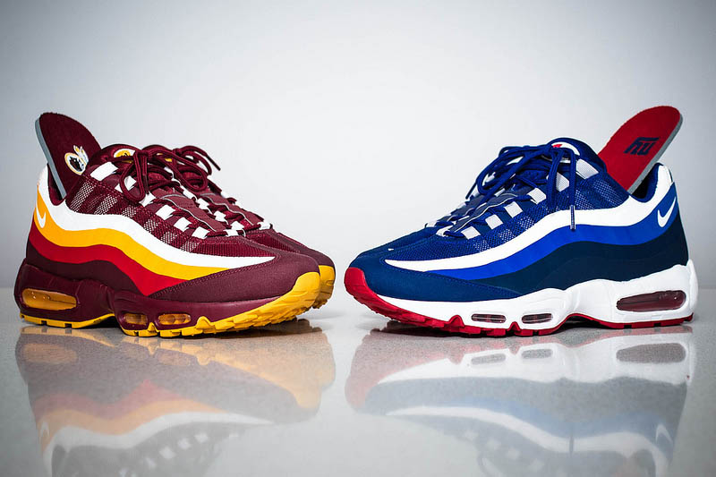 Nike Air Max 95 No-Sew Washington Redskins/NY Giants (Detailed ...