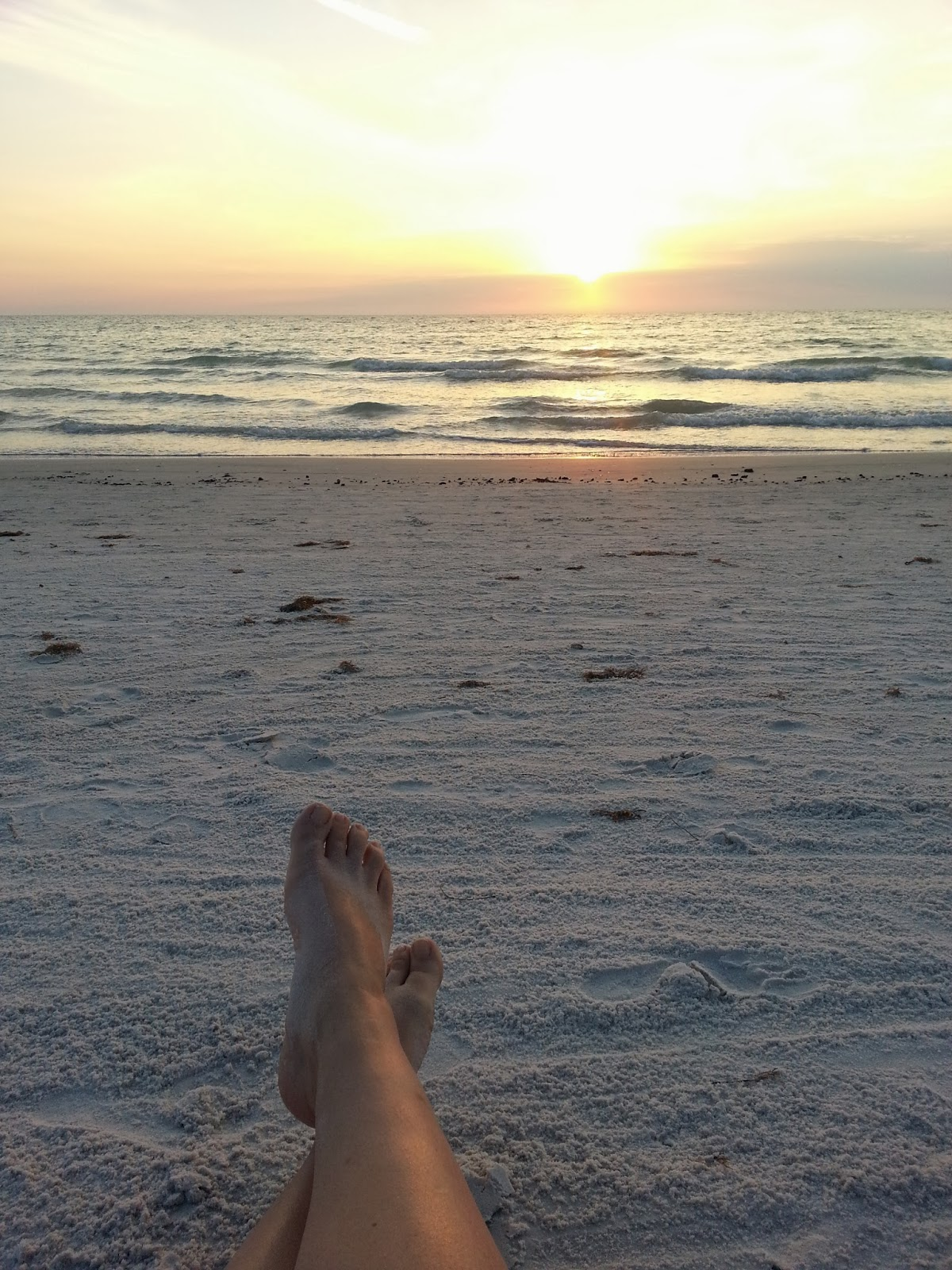 Gulf Sunset Feet | Navigating Hectivity by Micki Bare