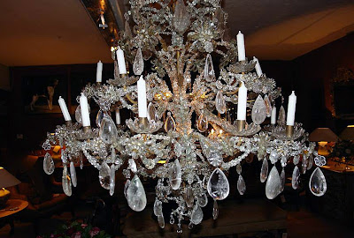 Rock crystal chandelier, 18th ct, royal provenance, Genova, Italy   ca 140 cm x 140 cmr via Garnier website as seen on linenandlavender.net   Visit the Garnier website for an interesting read about rock crystal value, history and uses through the ages, see:  http://www.garnier.be/index.cfm?page=Antiques&amp;cat=2045&amp;subcat=2201