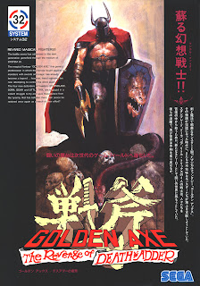 Golden Axe The Revenge of Death Adder arcade game flyer art portable