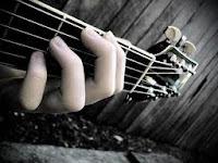 Exemplo de um acorde musical no violão