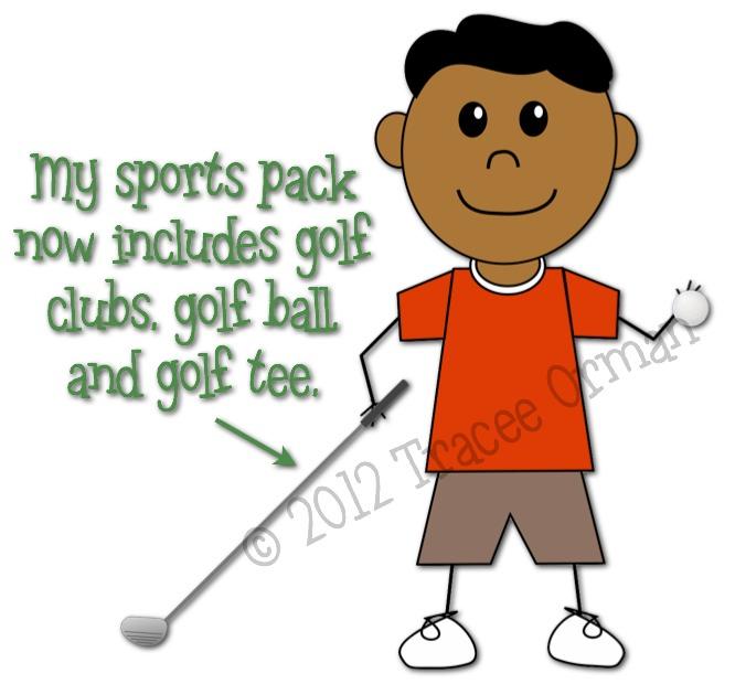 Kid Golf Cartoon Kid Cartoon Golf Clipart