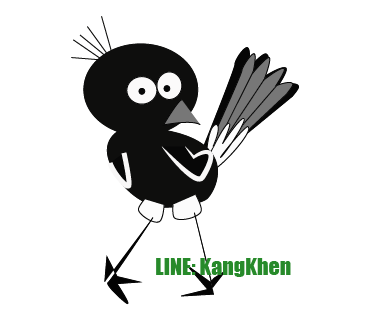line stickers KangKhen Robin freedom and powerful bird