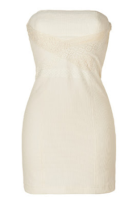 Ecru Strapless Dress