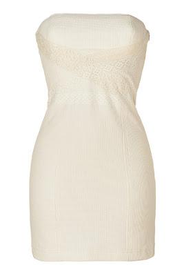 Ecru Strapless Dress