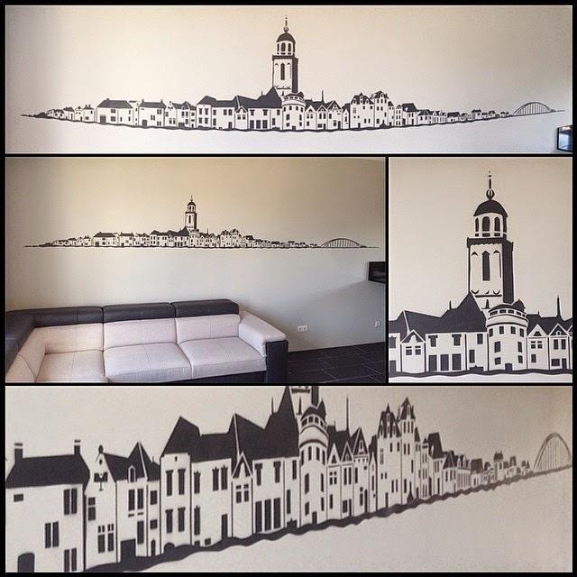 Deventer Skyline Muurschildering.EGD