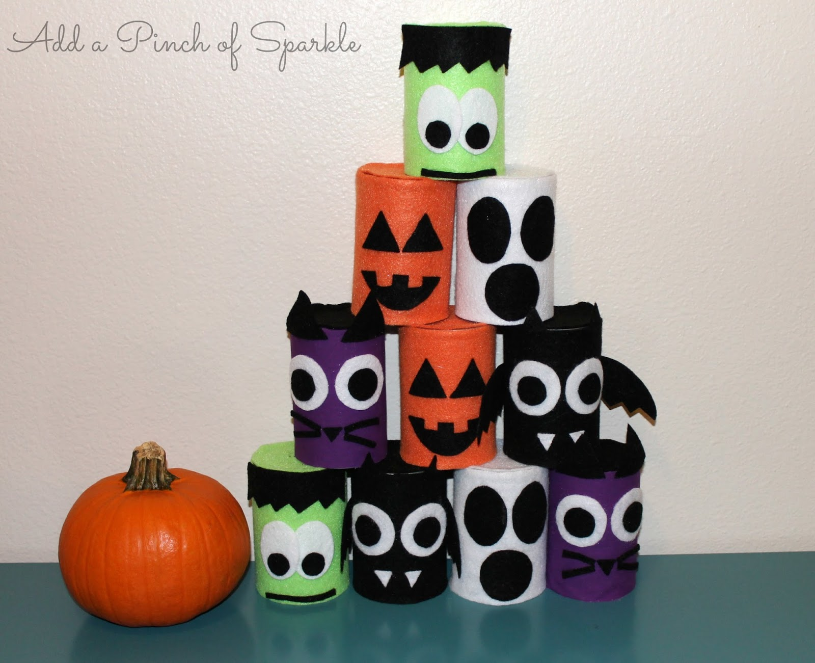 Add A Pinch Of Sparkle: Halloween Pumpkin Bowling