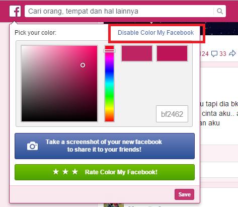 Cara Mengganti Warna Tema Facebook