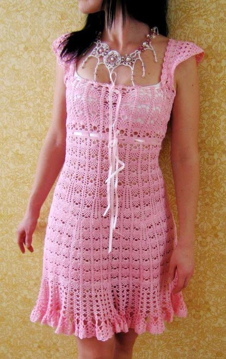 Free crochet patterns and video tutorials free crochet summer dress free crochet summer dress pattern symbol diagrams ccuart Choice Image