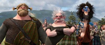 Los tres nobles de las Highlands en Brave (Indomable), lo nuevo de Pixar