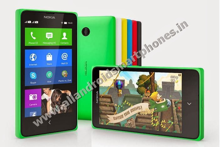 Nokia X Dual Sim Android Smartphone Front Back Side Bright Green Bright Red Cyan Yellow Black White All Colors Images Photos Review