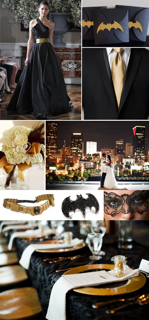 Elegant Gold and Black Batman Wedding