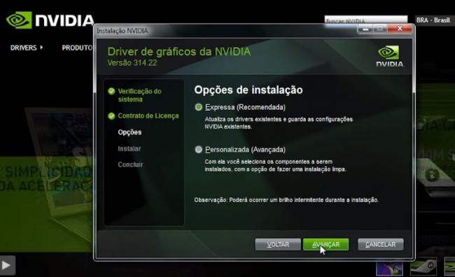 Atualizar drive placa Nvidia