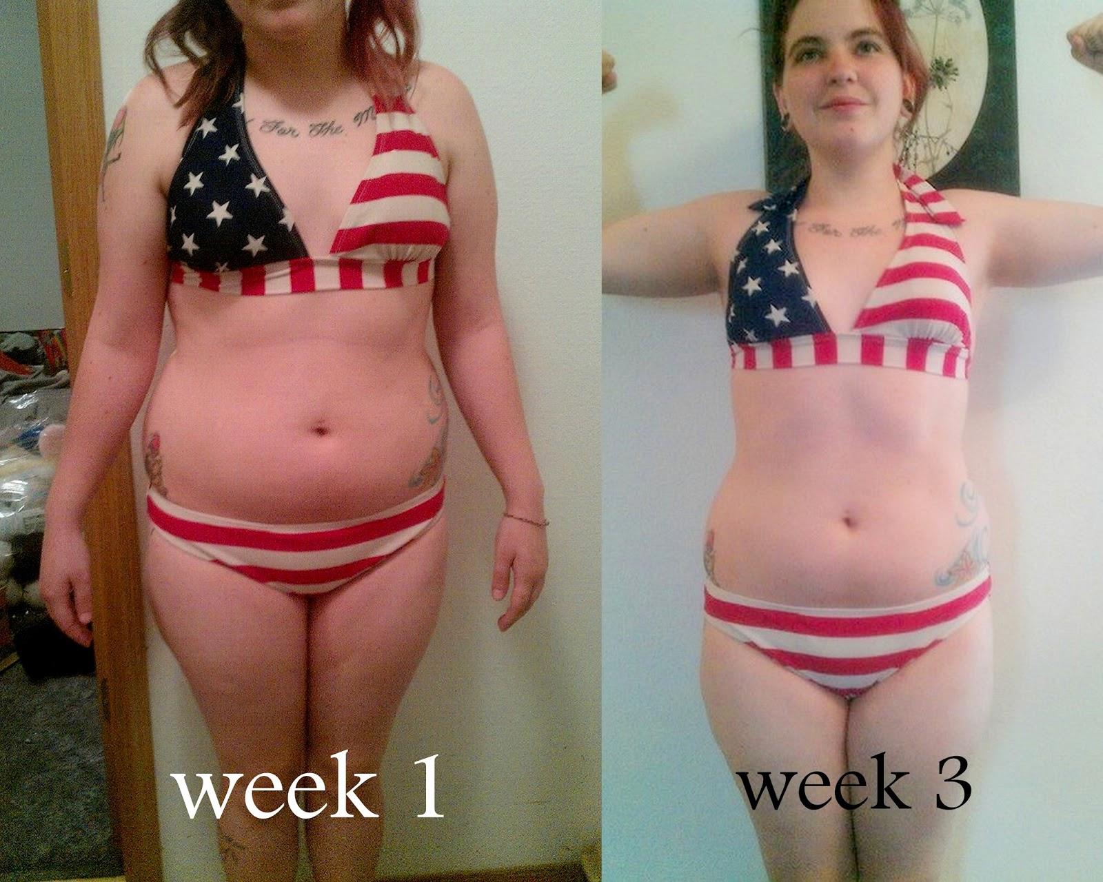 belly fat loss progress