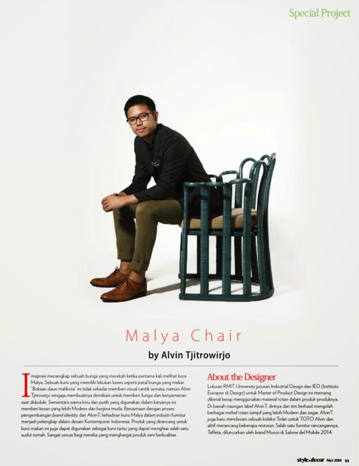 Malya Chair By Alvin Tjitrowirjo
